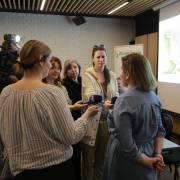Branka Španiček interviewed by the media DRAVA LIFE/Branka Španiček daje izjavu za medije